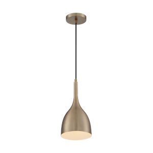 Bellcap Burnished Brass 13-Inch One-Light Pendant