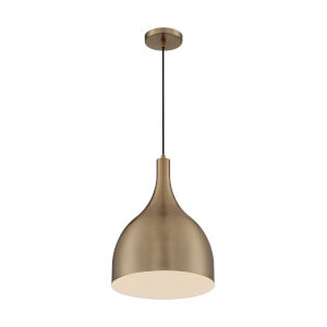 Bellcap Burnished Brass 16-Inch One-Light Pendant