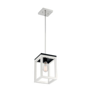 Cakewalk Polished Nickel and Black One-Light Pendant