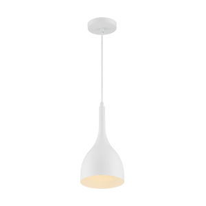 Bellcap Matte White 13-Inch One-Light Pendant