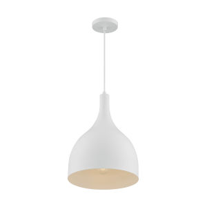 Bellcap Matte White 16-Inch One-Light Pendant