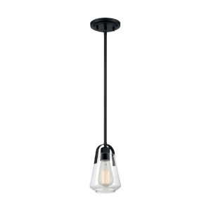 Skybridge Matte Black One-Light Mini Pendant