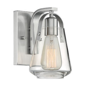 Skybridge Brushed Nickel One-Light Bath Vanity
