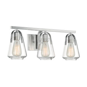 Skybridge Brushed Nickel Three-Light Bath Vanity