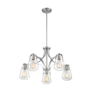 Skybridge Brushed Nickel Five-Light Chandelier