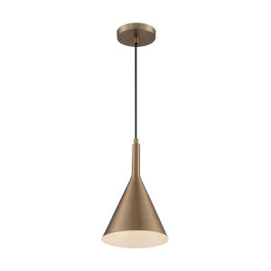 Lightcap Burnished Brass 13-Inch One-Light Pendant