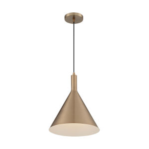 Lightcap Burnished Brass 15-Inch One-Light Pendant