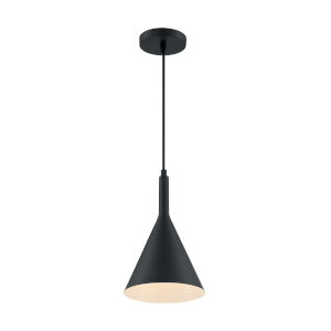 Lightcap Matte Black 13-Inch One-Light Pendant