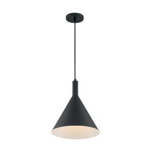 Lightcap Matte Black 15-Inch One-Light Pendant