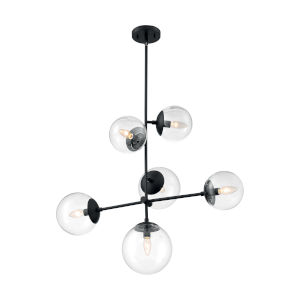 Sky Matte Black Six-Light Pendant