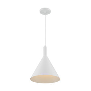 Lightcap Matte White 15-Inch One-Light Pendant