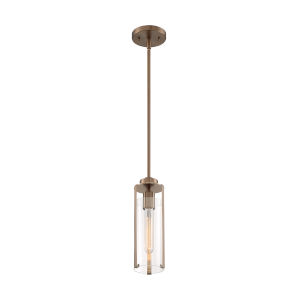 Marina Burnished Brass One-Light Mini Pendant