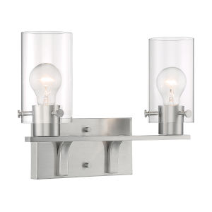 Sommerset Brushed Nickel Two-Light Bath Vanity