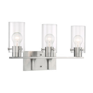 Sommerset Brushed Nickel Three-Light Bath Vanity