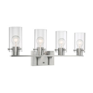 Sommerset Brushed Nickel Four-Light Bath Vanity