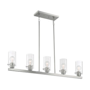 Sommerset Brushed Nickel Five-Light Pendant