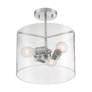 Sommerset Brushed Nickel Three-Light Semi-Flush Mount