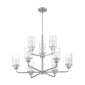 Sommerset Brushed Nickel Nine-Light Chandelier