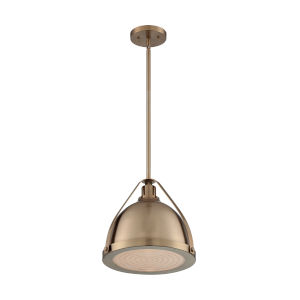 Barbett Burnished Brass 13-Inch One-Light Pendant