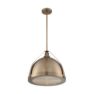Barbett Burnished Brass 18-Inch One-Light Pendant