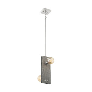 Stella Driftwood and Brushed Nickel Two-Light Pendant