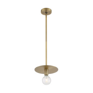 Bizet Vintage Brass One-Light Mini Pendant