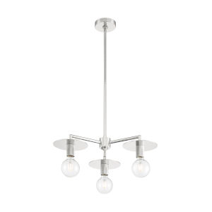 Bizet Polished Nickel Three-Light Chandelier