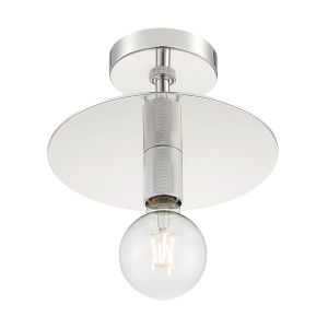 Bizet Polished Nickel One-Light Semi-Flush Mount