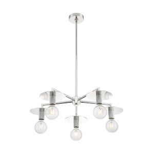 Bizet Polished Nickel Five-Light Chandelier