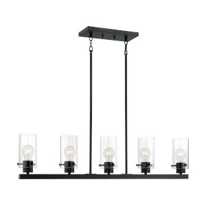 Sommerset Matte Black Five-Light Pendant
