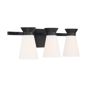 Caleta Black Three-Light Bath Vanity
