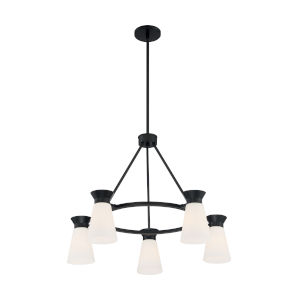 Caleta Black Five-Light Chandelier
