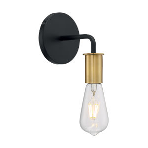 Ryder Black and Brushed Brass One-Light Wall Sconce