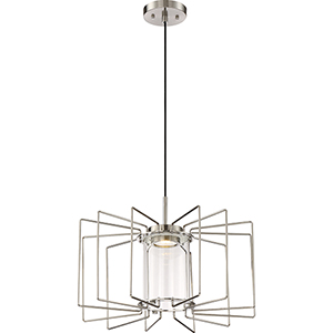 Wired Brushed Nickel LED 13-Inch Pendant