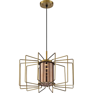 Wired Vintage Brass LED 24-Inch Pendant