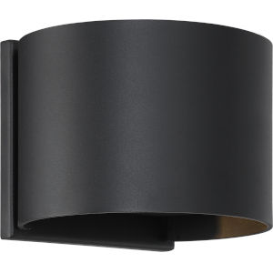 Lightgate Black 6-Inch One-Light LED Outdoor Round Sconce