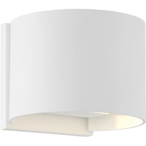Lightgate White One-Light LED Outdoor Round Sconce with 3000k