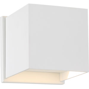 Lightgate White One-Light LED Outdoor Square Sconce