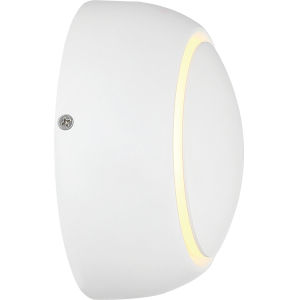 Pinion White One-Light ADA LED Outdoor Wall Sconce