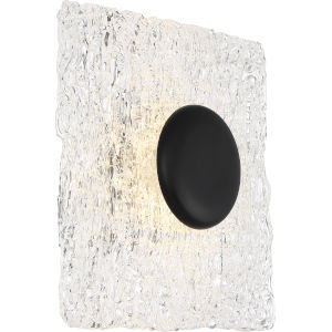 Riverbed Black One-Light LED Square Flush Mount with 3000K