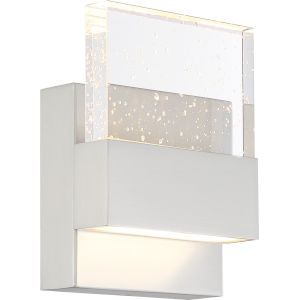 Ellusion Nickel One-Light ADA LED Wall Sconce with 675 Lumens