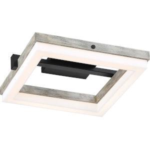 Alta Black One-Light LED Flush Semi-Mount