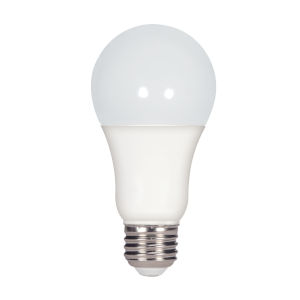 SATCO Frosted LED A19 Medium 15.5 Watt Type A Bulb with 2700K 1600 Lumens 80 CRI and 220 Degrees Beam