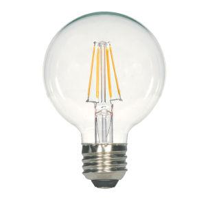 SATCO Clear LED G25 Medium 4.5 Watt LED Filament Bulb with 2700K 450 Lumens 80 CRI and 360 Degrees Beam