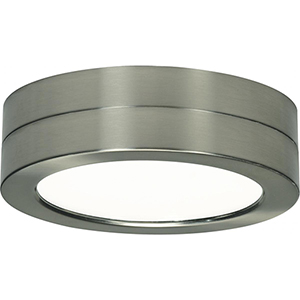 SATCO Brushed Nickel Seven-Inch Round Flush Module ONLY
