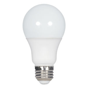 SATCO Frosted White LED A19 Medium 11 Watt Type A Bulb with 4000K 1100 Lumens 80 CRI and 220 Degrees Beam