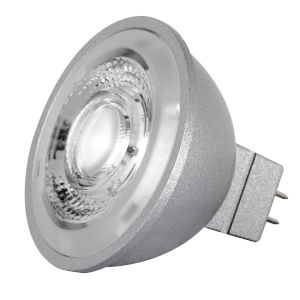 SATCO LED MR16 GU5.3 8 Watt MR LED Bulb with 3500K 490 Lumens 90+ CRI and 40 Degrees Beam 12 Volt
