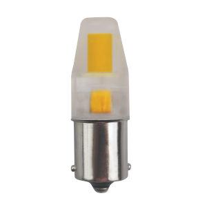 SATCO Clear LED SC Bay 3 Watt Minature LED Bulb with 3000K 330 Lumens 80 CRI and 360 Degrees Beam 12 Volt