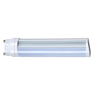 SATCO Frosted White LED PL GU24 8 Watt LED CFL Replacements Pin Based Bulb with 3500K 725 Lumens 83 CRI and 120 Degrees Beam