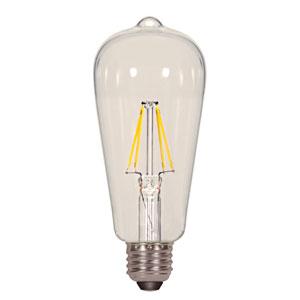 SATCO Satco 6.5W 4000K ST19 E26 Filament LED Bulb